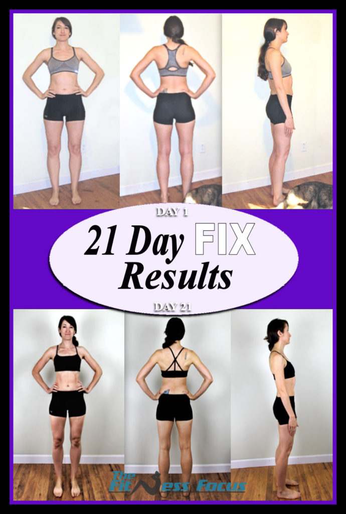 Round one 21 Day Fix Results