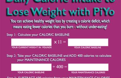 PiYo Calorie Calculation