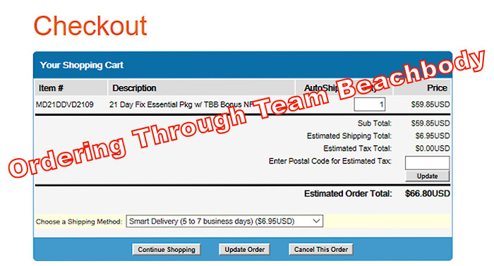 ordering from team beachbody coach example