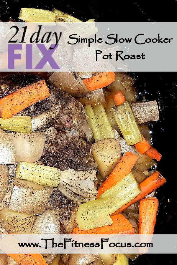 21 day fix approved slow cooker pot roast