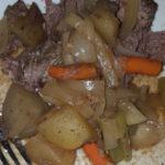 pot roast on plate