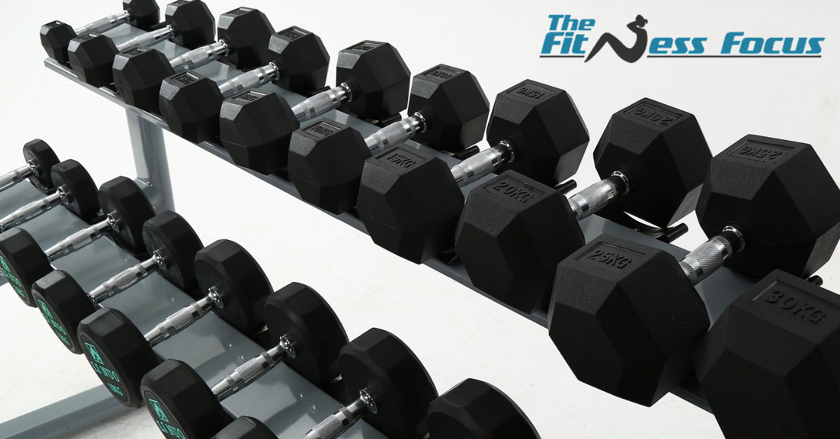 dumbbell weight rack with different sizes