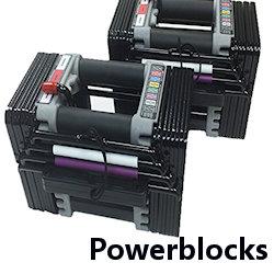 powerblocks adjustable dumbbell set