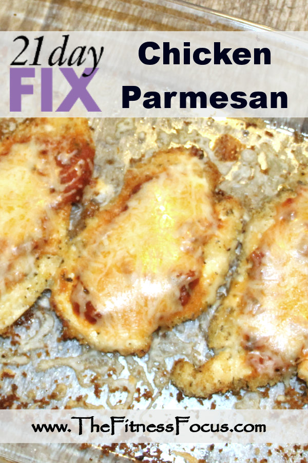 21 Day Fix approved chicken parmesan, using just 5 ingredients