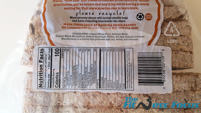 organic bread label ingredients
