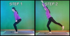squat arabesque