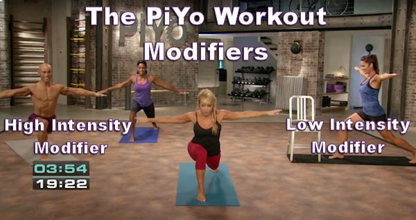 The PiYo workout modifiers make this program good for both the beginner and the advanced athlete.