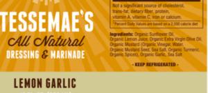 Natural Salad Dressing Label