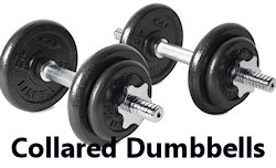 adjustable collared dumbbelss