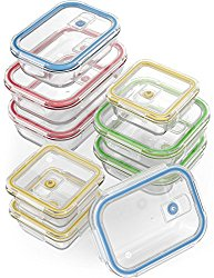 Glass meal prep food storage containers