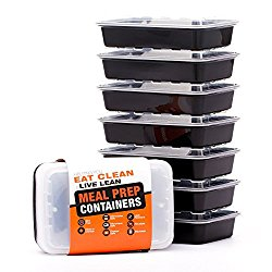 Plastic reusable meal prep storage containers