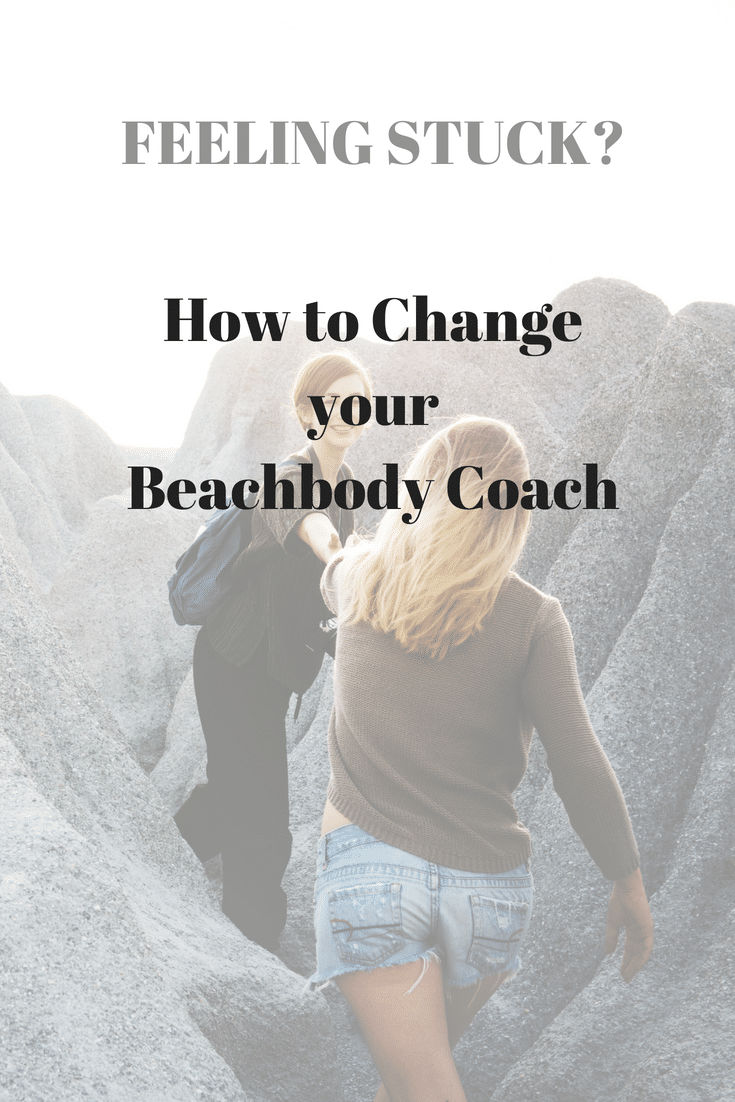 how to change your beachbody Coach using the contact form