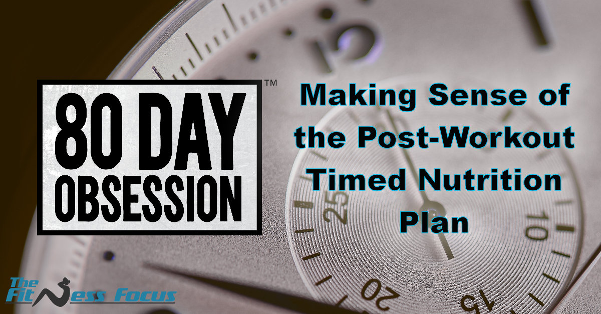 80 Day Obsession Timed Post Workout Nutrition