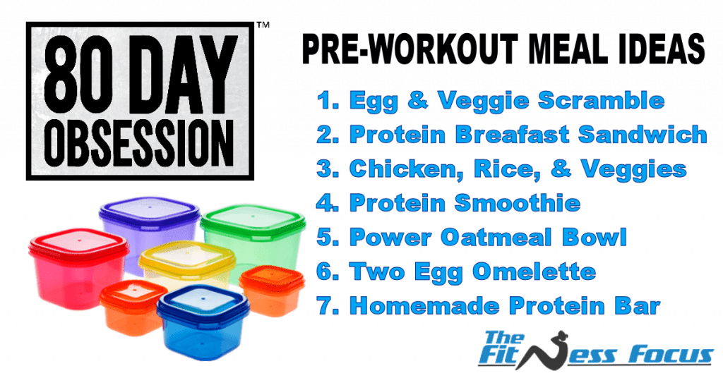 Pre Workout 80 Day Obsession Meals with Containers