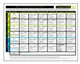 6 week workout calendar