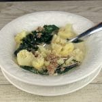 Cauliflower Zuppa Toscana in Bowl